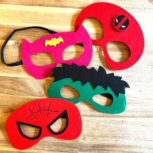 Tutu Cute Felt Super Hero Mask