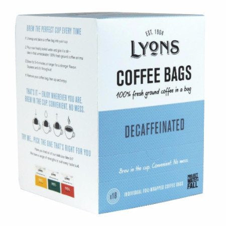 Lyons Decaf Coffee Bags (18x7g)