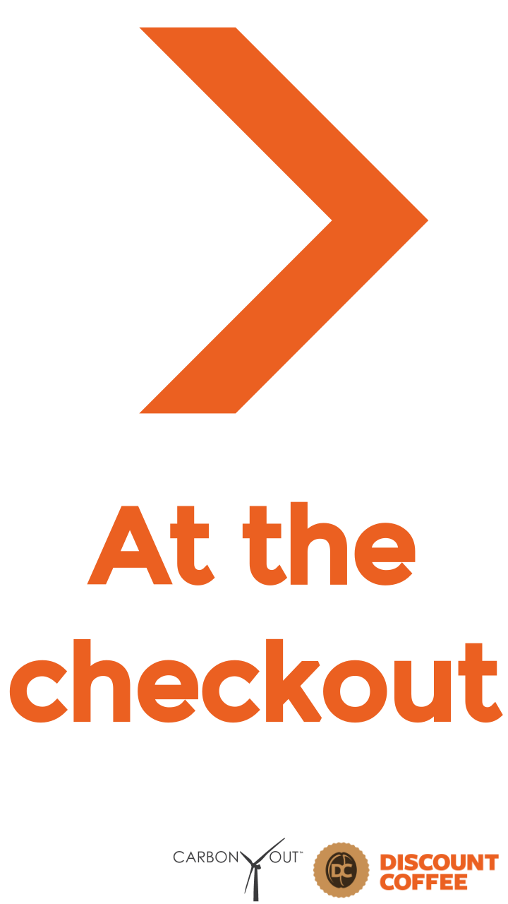 at the checkout Carbon Checkout | Discount Coffee