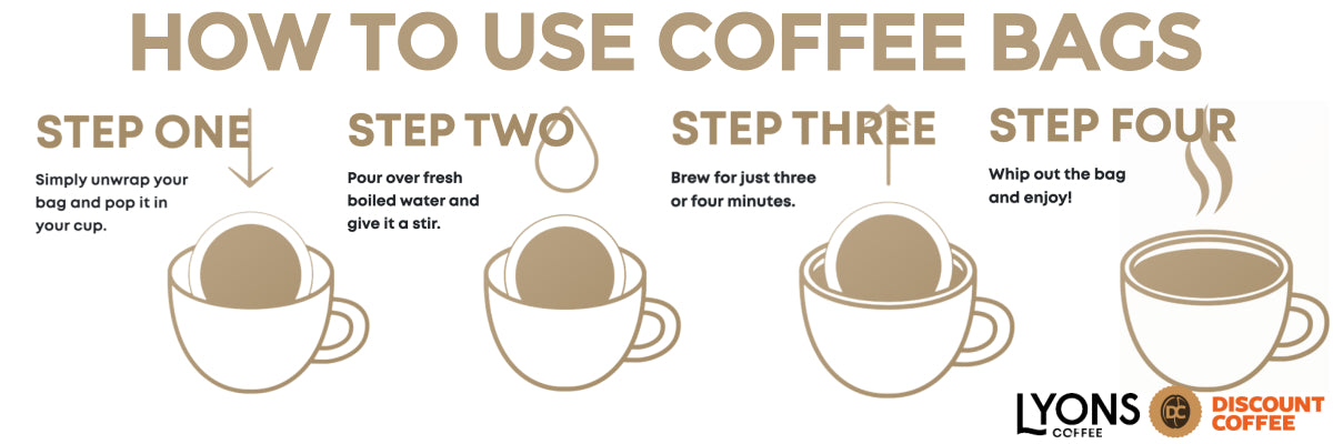 How to use the coffee bags | Discount Coffee