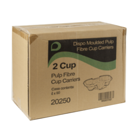 Cardboard Coffee Cup Carry Tray - 2 Cup (720)
