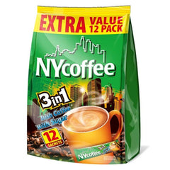 NY Irish Cream Instant White Coffee with Sugar 3 in 1 Sachets (12) Image