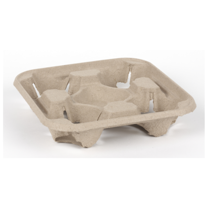 Cardboard Coffee Cup Carry Tray - 4 Cup (180) - DiscountCoffee