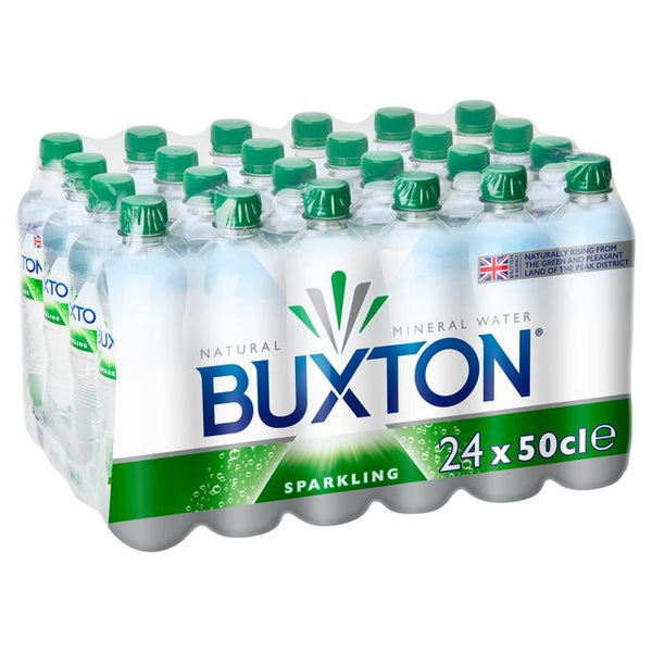 Buxton Sparkling Carbonated Mineral Water (24 x 500ml)