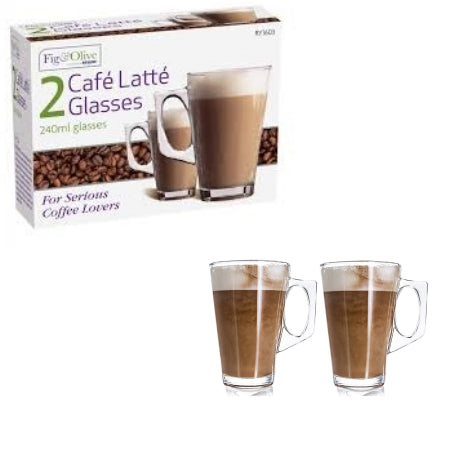2 Cafe Latte Glasses