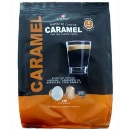 Simply Swiss Caramel Nespresso® Coffee Capsules (10) | Discount Coffee