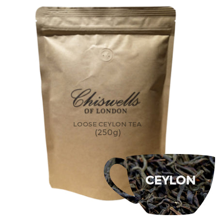 Chiswells Ceylon Loose Tea (250g) | Discount Coffee