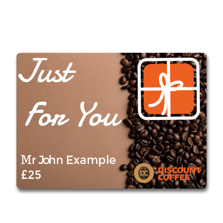 Discount Coffee Gift Card