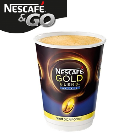 Nescafe And Go Gold Blend White Decaffeinated Pack (8)