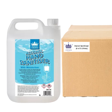 Antibacterial Alcohol Hand Sanitiser Gel - Bulk Buy (4 x 5 Litre) | Discount Coffee