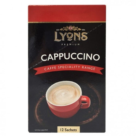 Lyons Instant Cappuccino Sachets | Discount Coffee