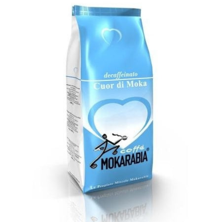 Mokarabia Cuor Di Moka Decaffeinated Coffee Beans 1Kg | Discount Coffee