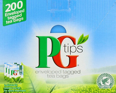 PG Tips Envelope Tea Bag Pack (200) - DiscountCoffee