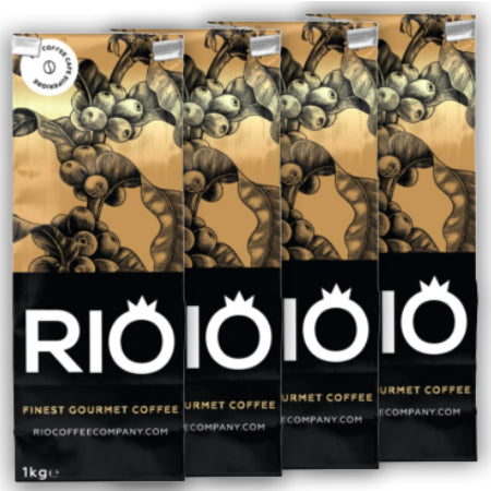Rio Espresso Oro Coffee Beans (4x1kg) Buy 10, get one FREE | Discount Coffee