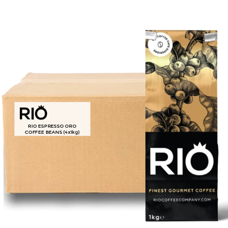 Rio Espresso Oro Coffee Beans (4x1kg) Italian Roast Coffee | Discount Coffee