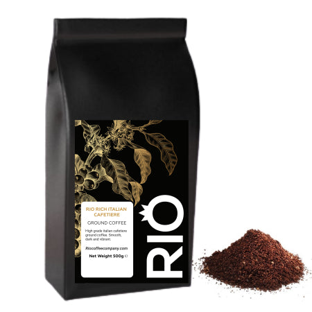 Rio Rich Italian Cafetiere Ground Coffee (500g) | Discount Coffee