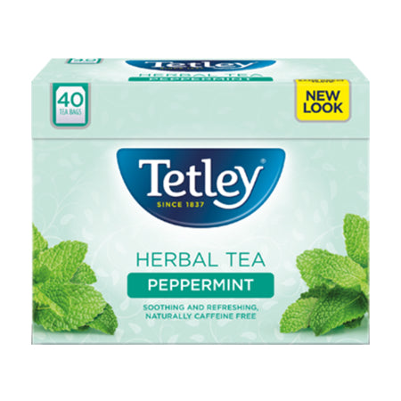 Tetley Peppermint Herbal Infusion (40 bags)