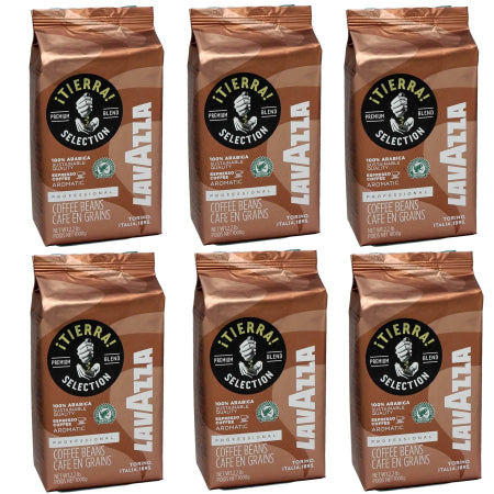 Lavazza Tierra Selection Coffee Beans 100% Arabica (6x1kg) | Discount Coffee