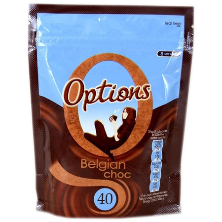 Options Belgian Hot Chocolate (88g) - DiscountCoffee
