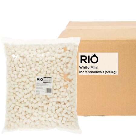 White Mini Marshmallow Toppings - Bulk Buy (5x1kg) | Discount Coffee