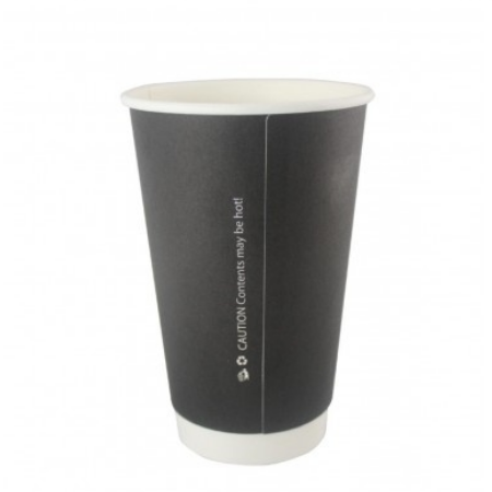 12oz Black Double Wall Cups (500)