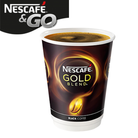 Nescafe And Go Gold Blend Black Coffee Pack (8)