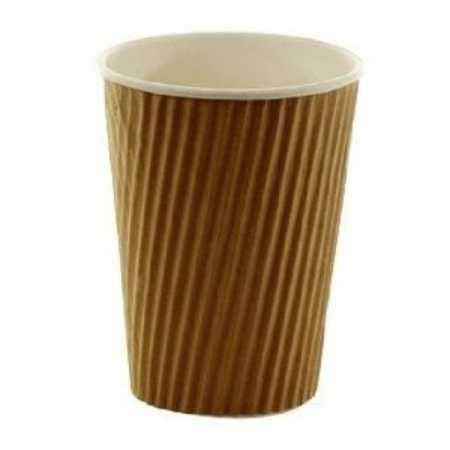 12oz Triple Wall Kraft Ripple Paper Cups 500 (340ml)