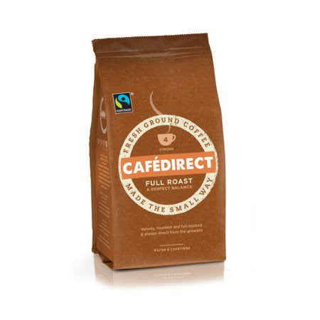 Cafedirect Full Roast Ground Coffee (227g) - DiscountCoffee