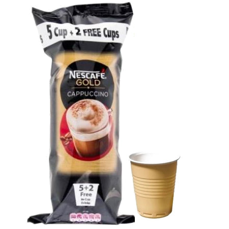 Nescafe Gold Instant Cappuccino  (7 cups) | Discount Coffee