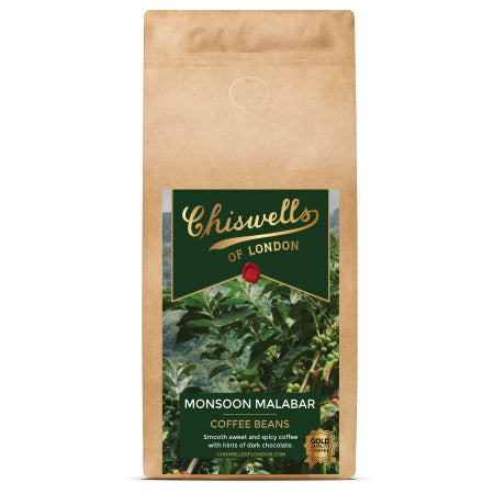 Chiswells Monsoon Malabar Coffee Beans (1kg) | Discount Coffee