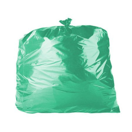 Coloured Bin Bags - Green (200) - DiscountCoffee