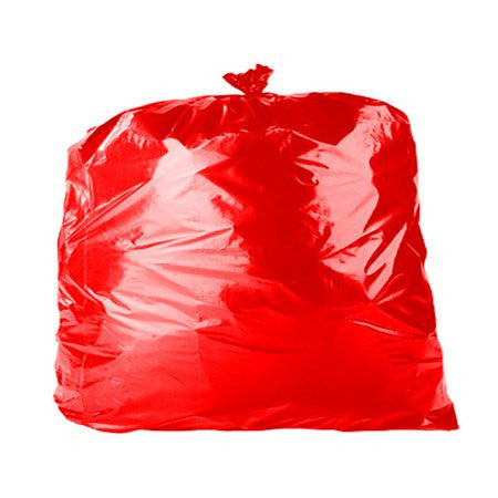 Coloured Bin Bags - Red (200) - DiscountCoffee