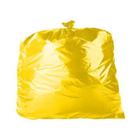 Coloured Bin Bags - Yellow (200) - DiscountCoffee