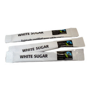 Fairtrade White Sugar Sticks (1000) - DiscountCoffee