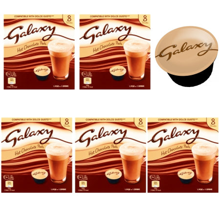 Galaxy Hot Chocolate - Dolce Gusto Pods - Bulk Buy (5 x 8 Pods) | Discount Coffee