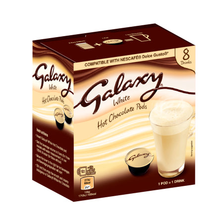 Galaxy White Hot Chocolate - Dolce Gusto Pods (8) | Discount Coffee