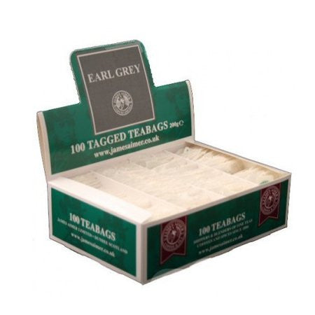 James Aimer Earl Grey String And Tag Teabags (100 ) - DiscountCoffee