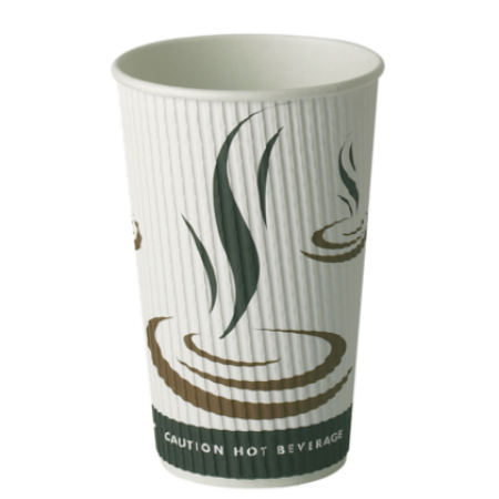 16oz Triple Wall Ripple Paper Cups 500 (340ml)