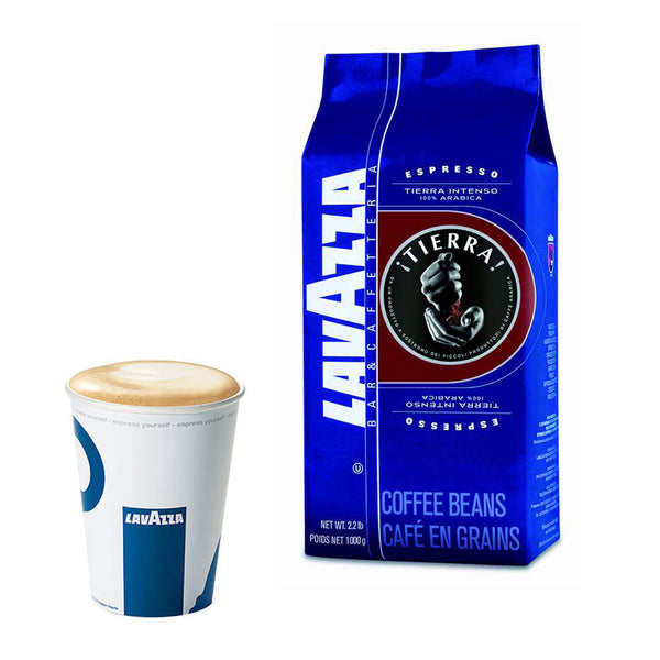 Lavazza Tierra Coffee Beans 100% Arabica (1kg) - DiscountCoffee