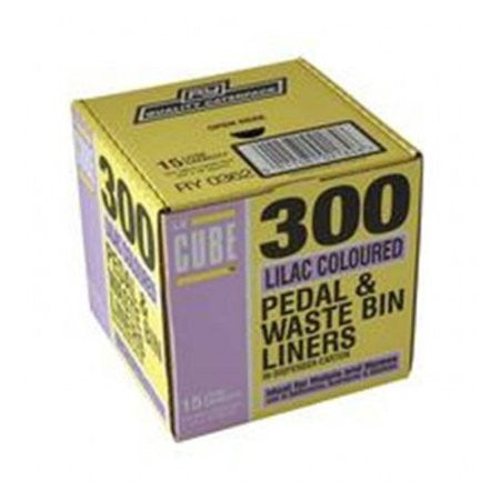 Le Cube Pedal Bin Liner Dispenser Pack (300) - DiscountCoffee
