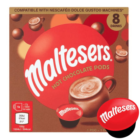 Maltesers Hot Chocolate - Dolce Gusto Pods (8) | Discount Coffee