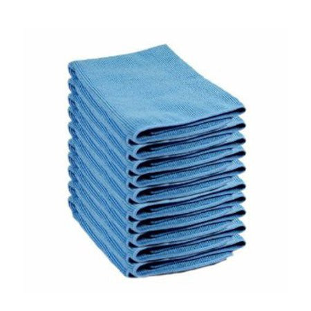 Microfibre Cloth Blue Pack of 10 - DiscountCoffee