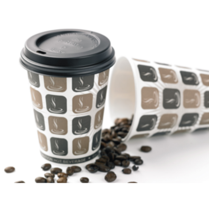 12oz Disposable Paper Coffee Cups 50 (340ml) - DiscountCoffee