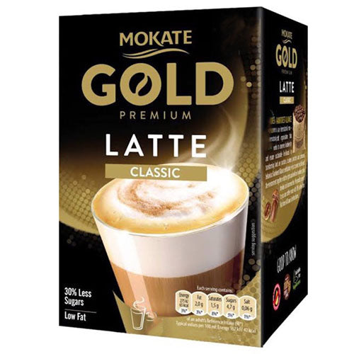 Mokate Gold Instant Latte Sachets (8) | Discount Coffee
