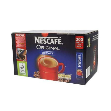 Nescafe Decaffeinated Coffee One Cup Sticks (200) - DiscountCoffee