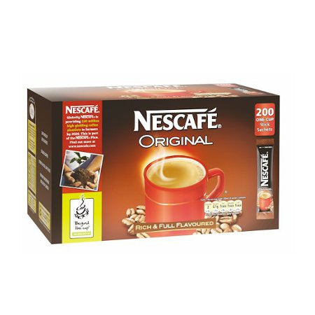 Nescafe Original Coffee One Cup Stick Sachets (200) - DiscountCoffee