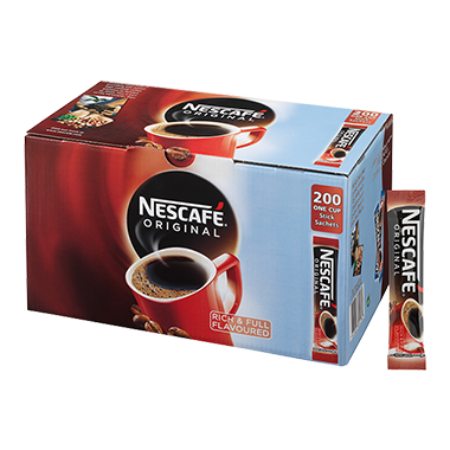 Nescafe Original Coffee One Cup Stick Sachets (200)