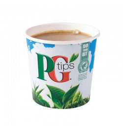 PG Tips 73mm Incup Vending White Tea (25 Cups) - DiscountCoffee