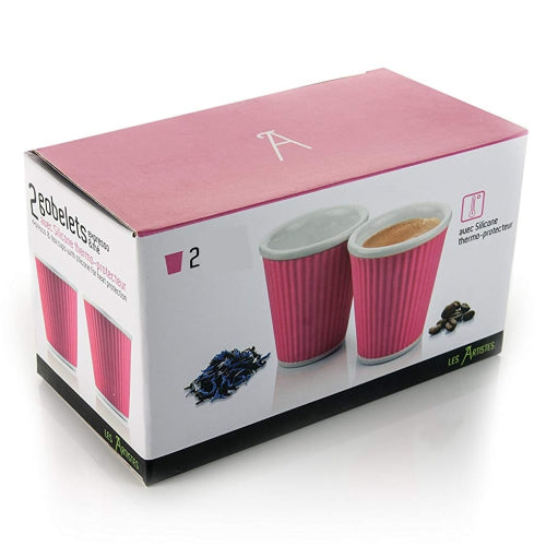 Two Espresso Cup Pink Box Les Artistes| Discount Coffee