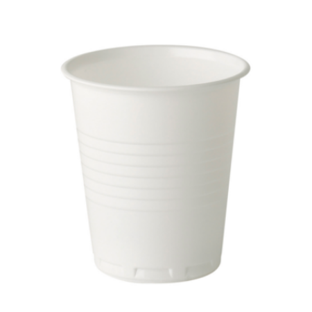 7oz Squat Plastic Vending Hot Drink Cup White 2000